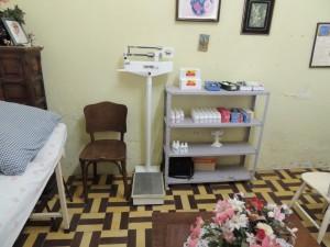 De behandelkamer van de dokter